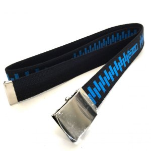 画像2: T19_Web Belt_Zipper_BLACK_Royal/Silver