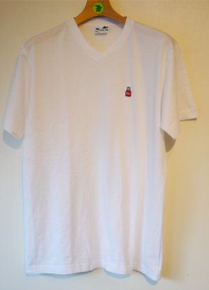 画像1: EAZE/V-Neck/4.5oz/BottleEMB/White